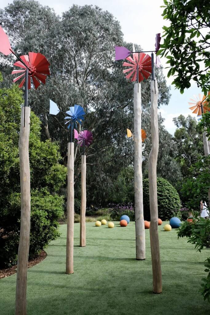 Flower Windmills at Kew Children's Garden