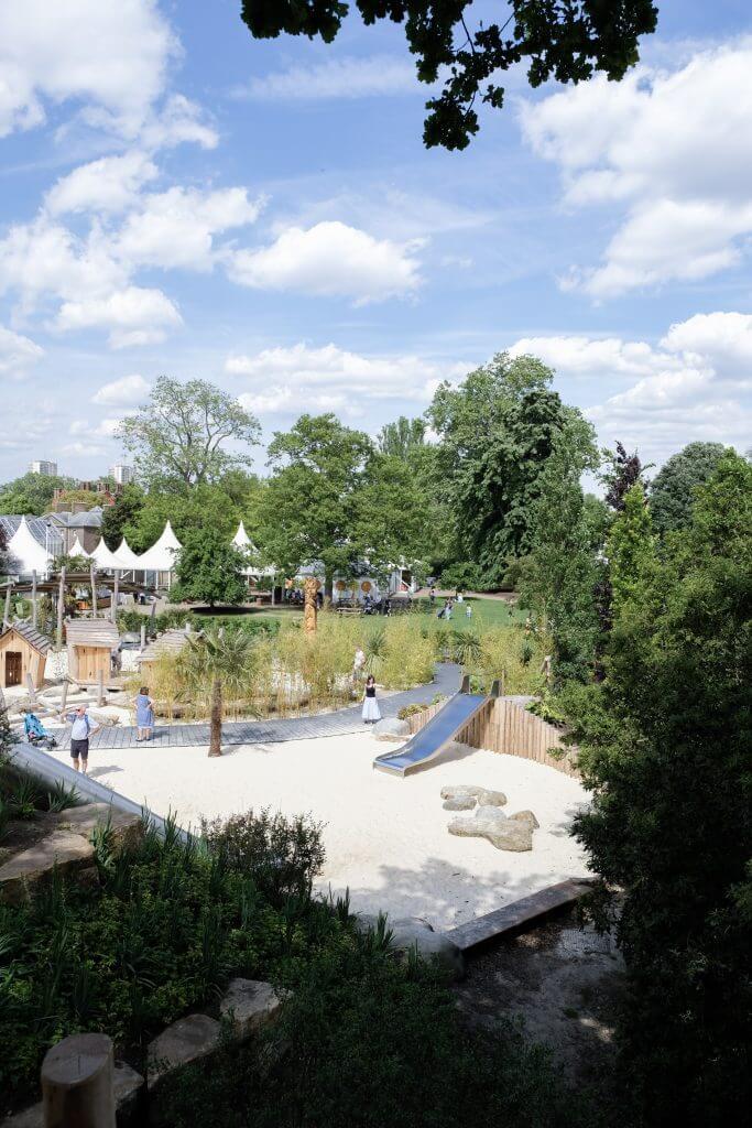 Arial view Kew Children's Garden